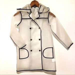Coco Blanc Double Breasted Raincoat